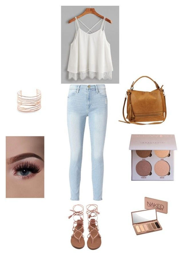 """Maddie's pick. Cute but casual.❤️"" by ehajian on Polyvore featuring Frame, Urban Expressions, Alexis Bittar and Urban Decay"