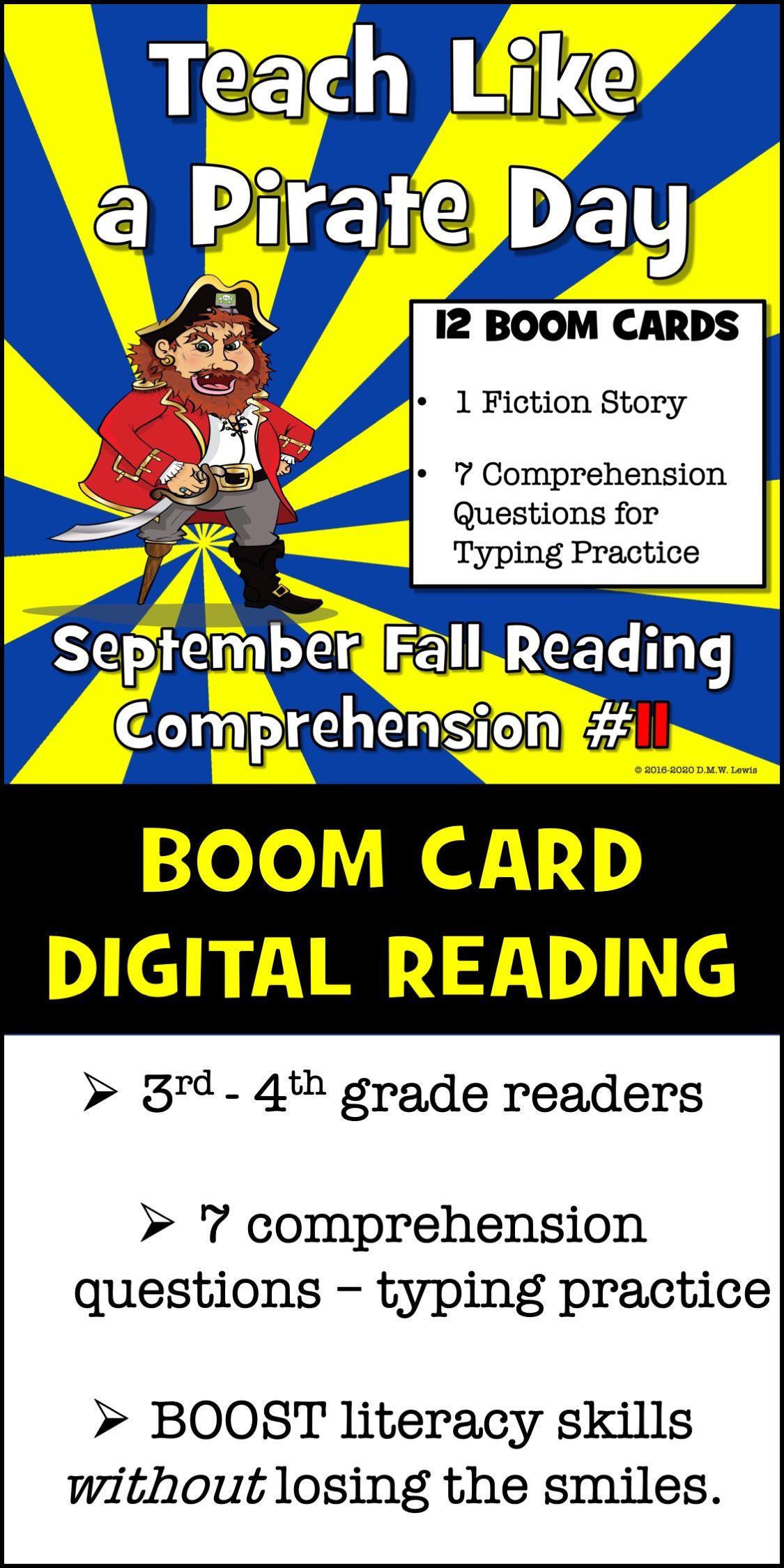 Pirate Reading Talk Like A Pirate Day Fun Reading 3rd Grade Reading 4th Grade Reading Teach Like A Pirate Fall Reading Comprehension Reading Comprehension [ 2249 x 1125 Pixel ]