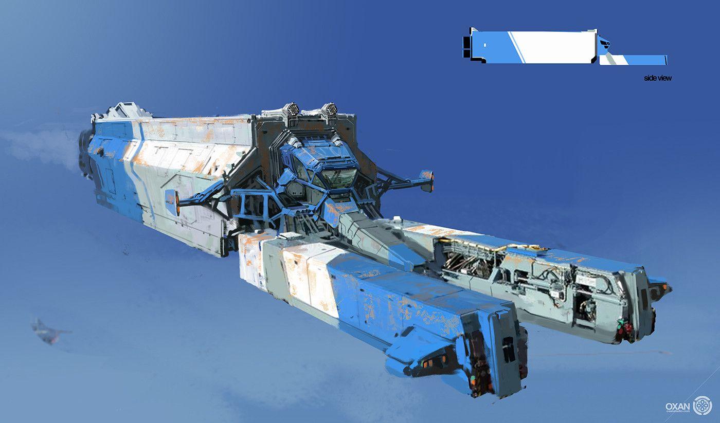 Artstation Spaceship Designs 01 Yohann Schepacz Oxan Studio Concept Ships Spaceship Design Spaceship