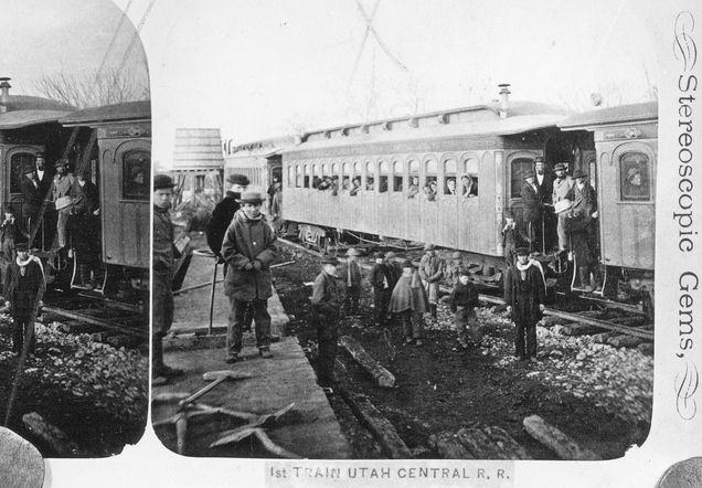 This Is Claimed To Be The First Train To Arrive In Salt Lake City On It Were Guests From Ogden Invited To The 1870 Ceremony Forma Salt Lake City Ut Train Lake