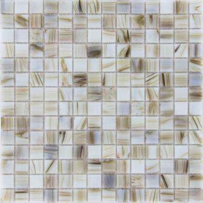 Ms International Ivory Iridescent 12 In X 12 In X 4 Mm Glass Mesh Mounted Mosaic Tile 20 Sq Ft Case 31 99 Mosaic Tiles Glass Tile Pattern