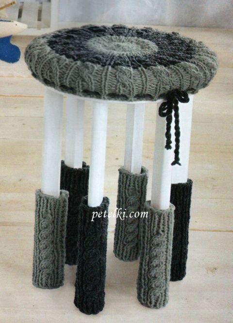Вязание чехол на табуретку