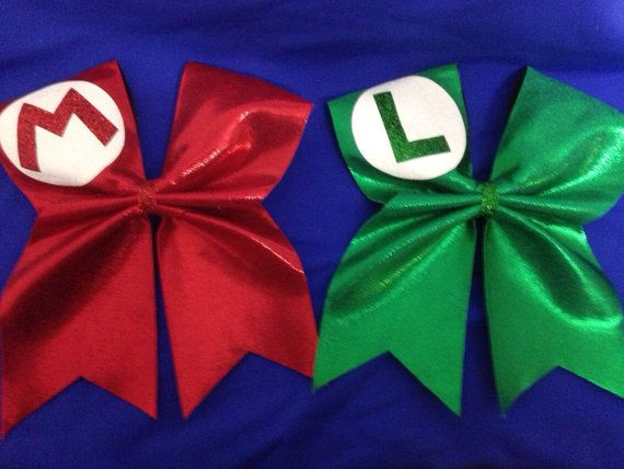 Mario and Luigi cheer bows by SarahsCheerBows on Etsy $22.00W Would be adorable for. Girl CostumesCouple ... & Mario and Luigi cheer bows by SarahsCheerBows on Etsy $22.00W Would ...