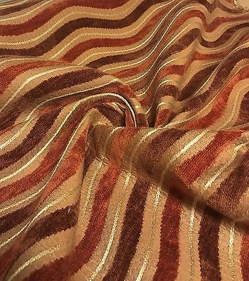 Super Luxurious Rust Gold Chenille Upholstery Fabric 4.8 Metres