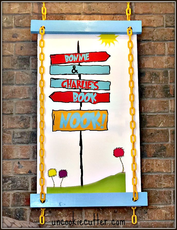 DIY Dr. Suess Wall Art   February Chain Challenge