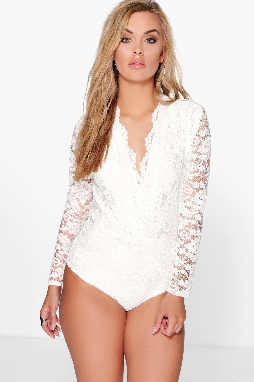f51099805092 Plus Lace Long Sleeved Bodysuit | Clothing wish list | Lace bodysuit ...