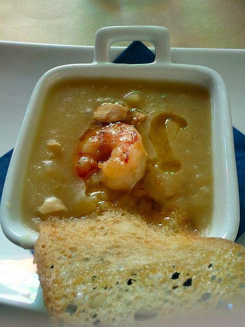 Zuppetta di patate con gambero, porri e sfoglia croccante @Jenny Tenuta La Lupa by francescaturchi, via Flickr http://www.travelstales.it/2013/03/24/relax-buona-cucina-tenuta-la-lupa-costa-degli-etruschi/