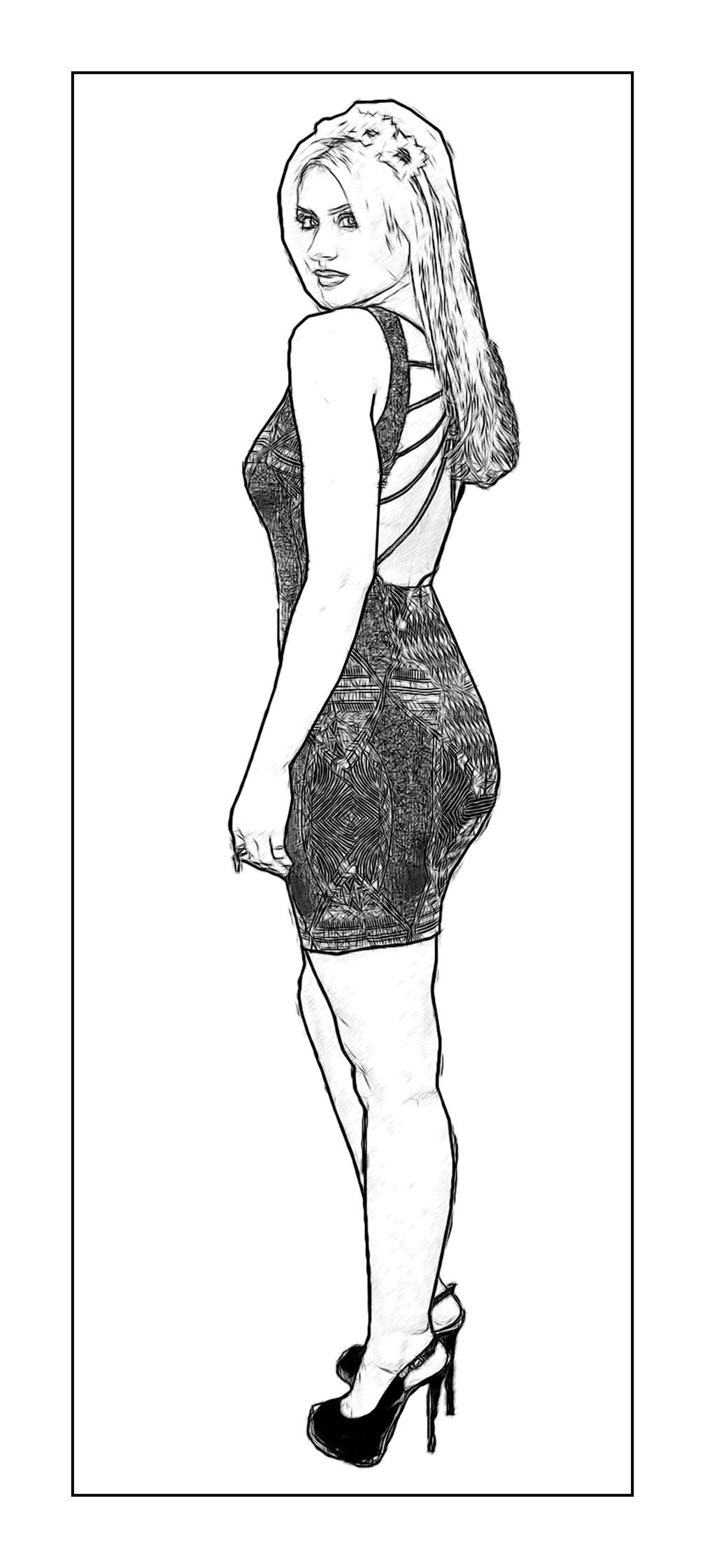 An Aly Michalka Celebrity Coloring Page by Dan Newburn of ...