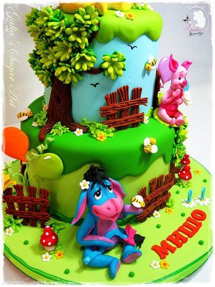 Pooh Bear Cake Design : Winnie the Pooh and friends Cake Design - kids cakes ...