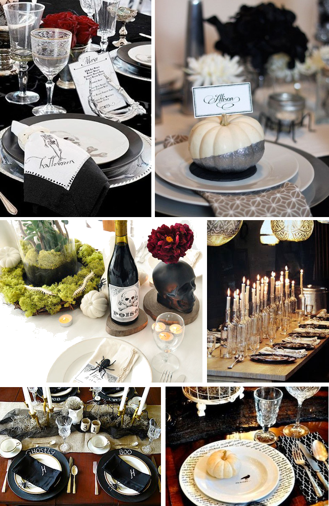 glamorous halloween tablescapes