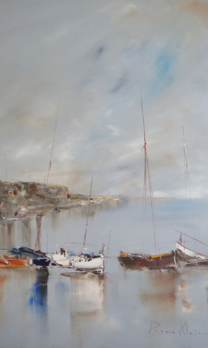 Bruno klein roches de gris et d 39 ocre 100x80 art for Bruno klein peintre
