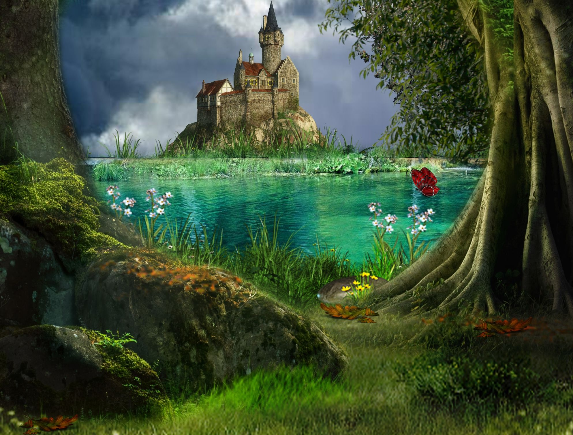 Magical Fairytale Castle and Surrounding | Book Ideas ...