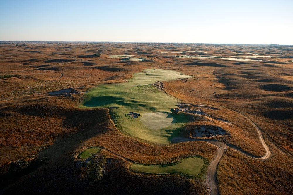 the fifteenth hole at the prairie clubs dunes course in valentine nebraska the dunes course was golf digests overnight destination of the year - Prairie Club Valentine