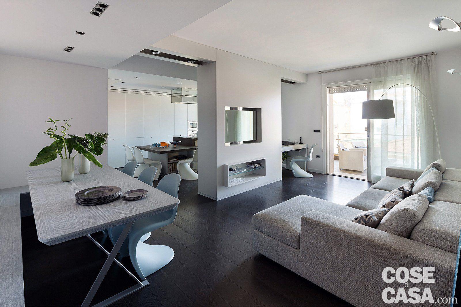 Arredamento Bianco Grigio E Nero.75 Mq Una Casa Con Geometrie In Bianco E Nero Progetti Da Provare