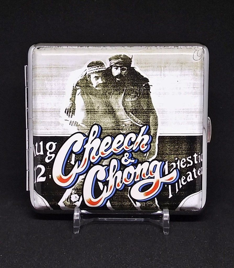 Cheech & Chong Style #5 Silver Framed PU Leather King Size Case