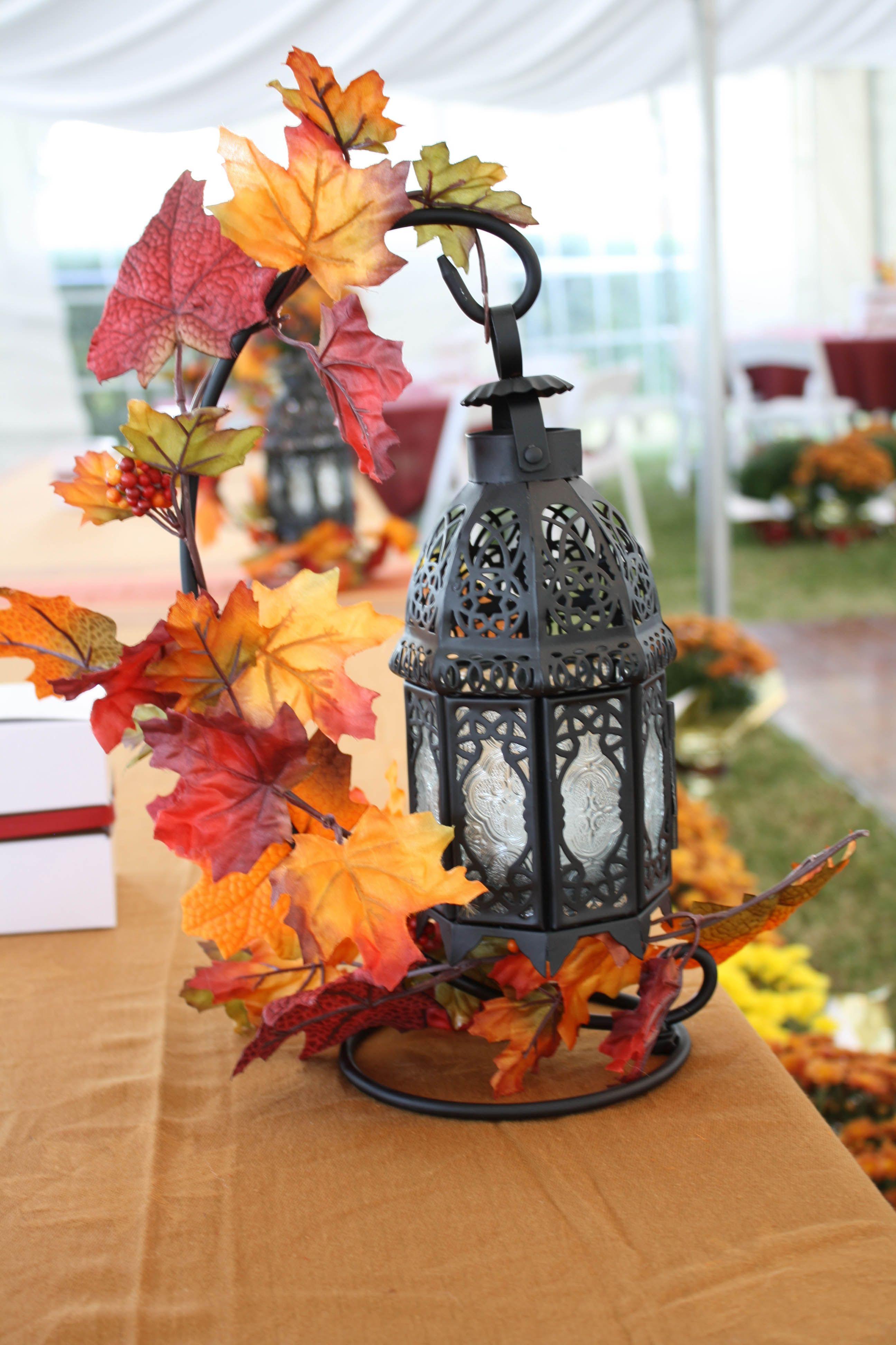 Trishas Centerpiece for October Wedding Creative Ideas - October Decorations