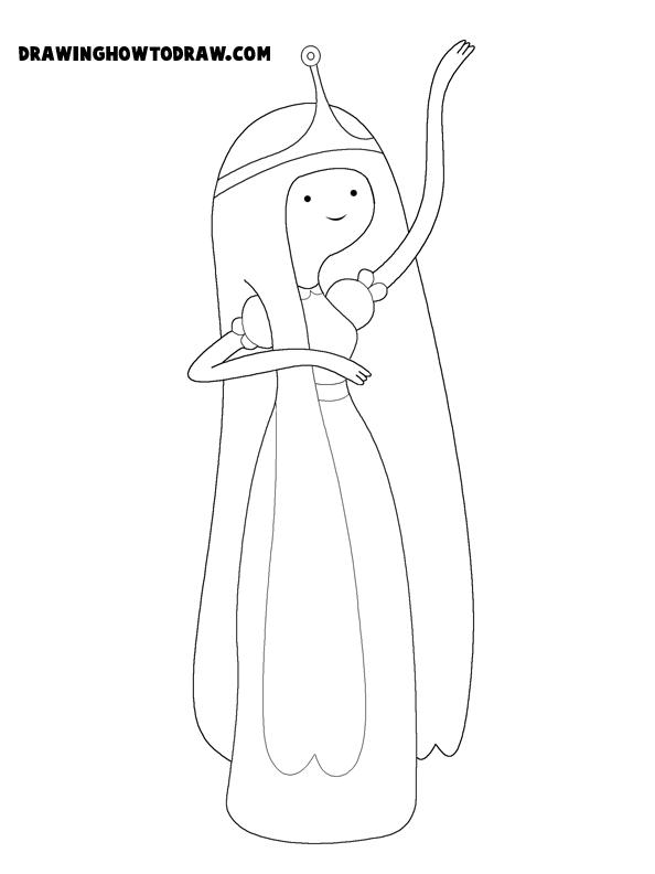 princess bubblegum coloring page