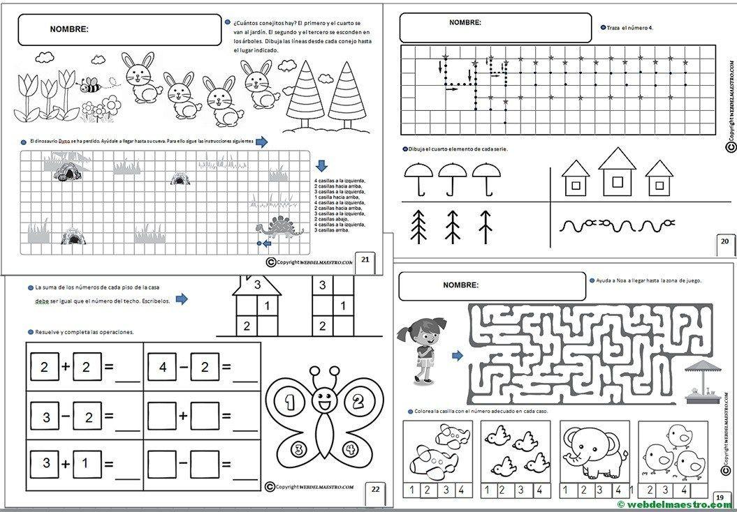 Fichas Infantil 5 Anos Para Imprimir Con Imagenes Fichas