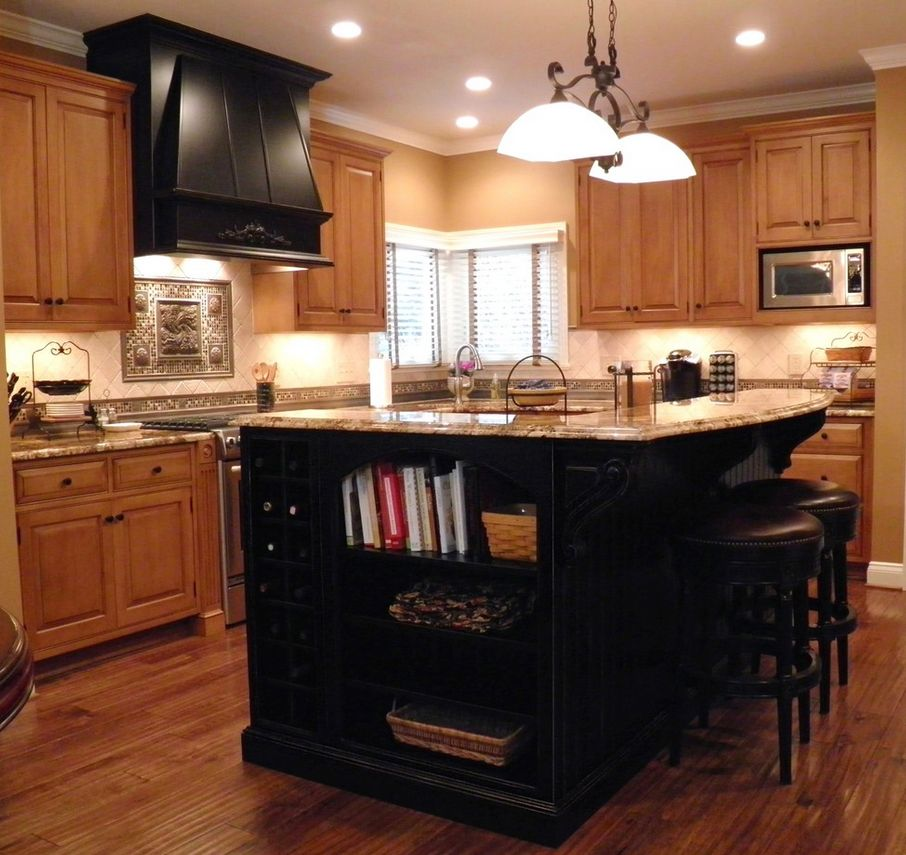 Kitchen Cabinets Heights: Island Layout With Bookcase And Height Of Cabinet Over The