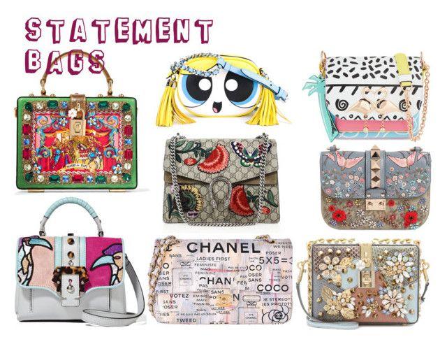 """Statement Bags"" by vero1983 on Polyvore featuring Mode, Moschino, Sophia Webster, Gucci, Paula Cademartori, Dolce&Gabbana, Chanel und Valentino"