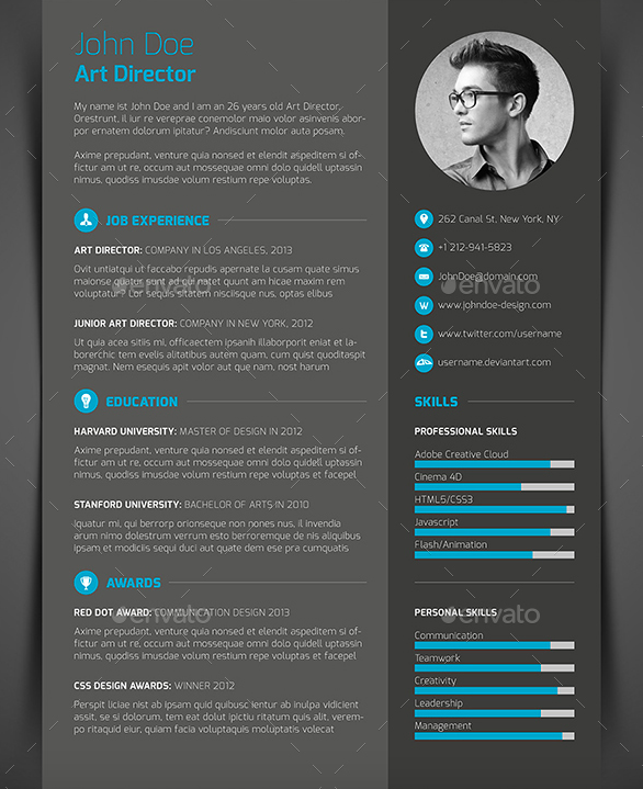 10 Best Cv Resume Templates 2019 Infographic Resume Template Cv Resume Template Indesign Resume Template