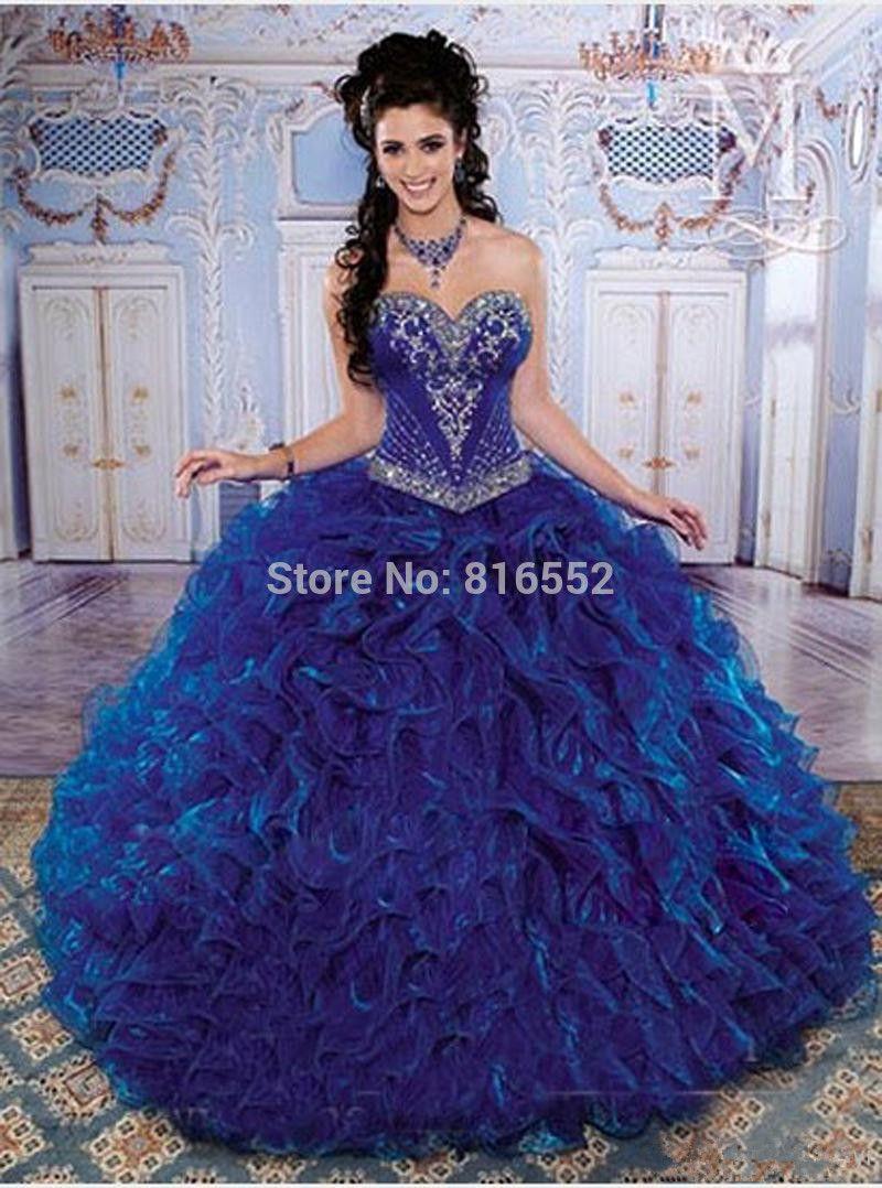 aniversario de 15 anos vestidos azul - Pesquisa Google | vestidos ...