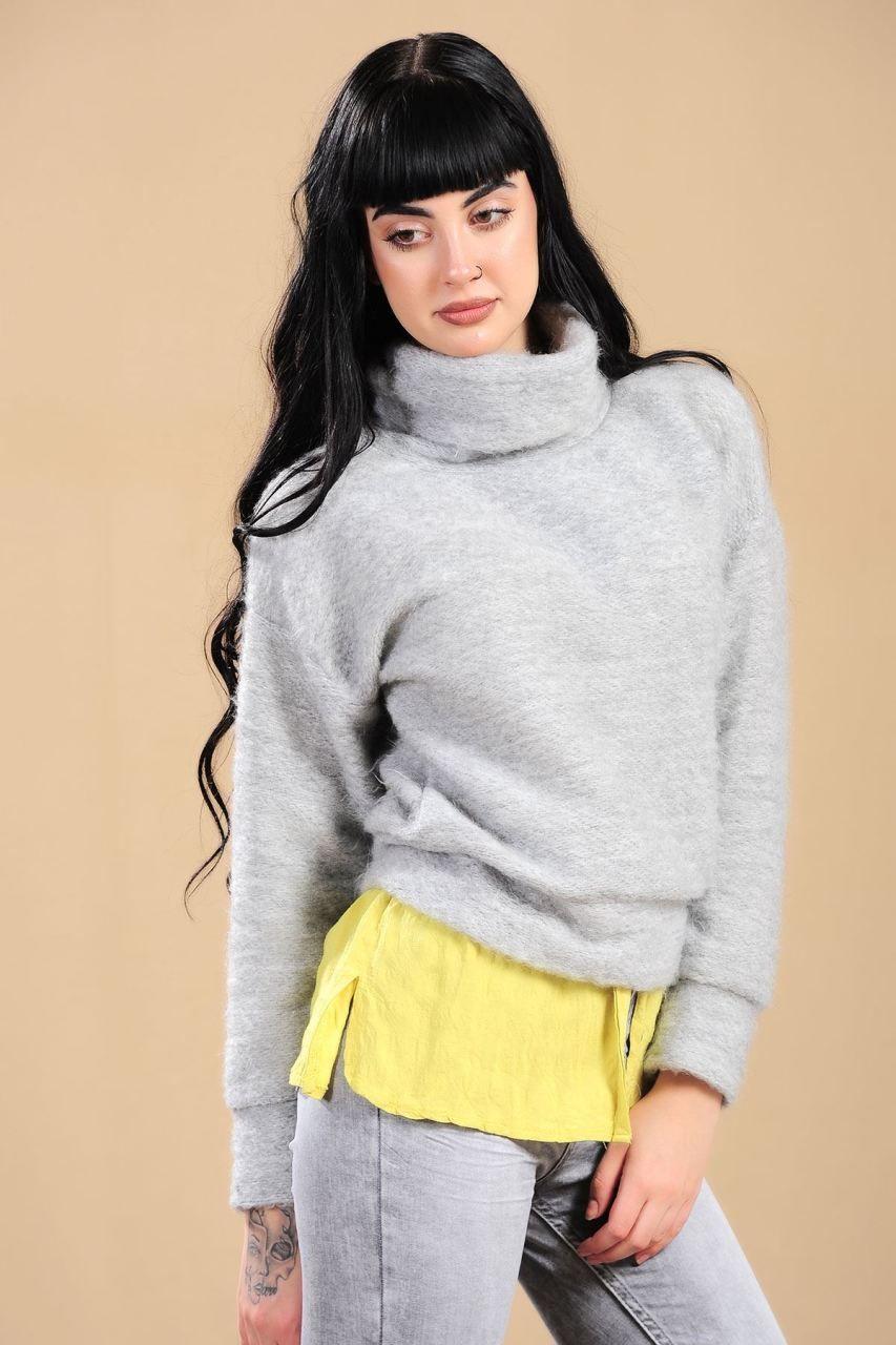 Bogazli Pelus Gri Kazak Giyim Indirim Kampanya Bayan Erkek Bluz Gomlek Trenckot Hirka Etek Yelek Mont Kase Kaban Elbise Abiy Moda Trenckot Gri