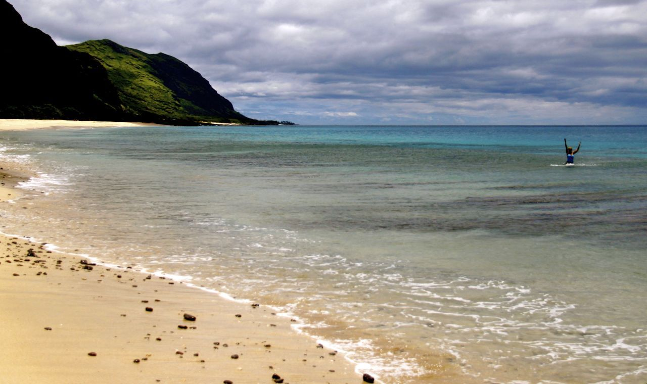 The less popular South West beaches on Oahu