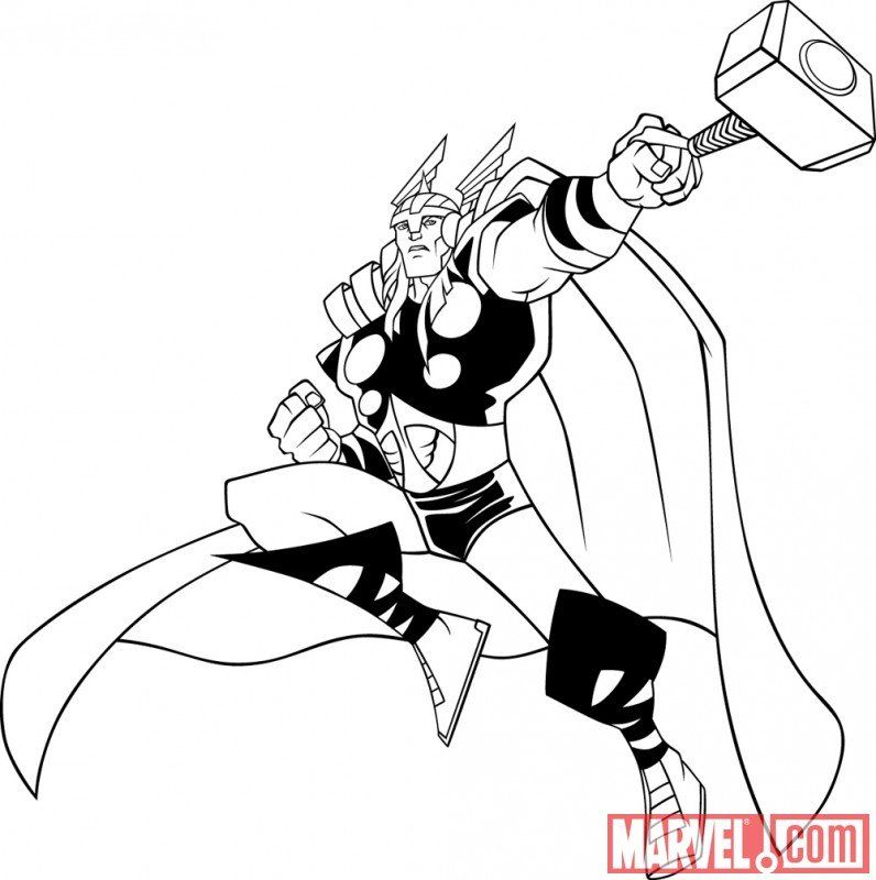 marvel avengers thor coloring pages birthday ideas pinterest