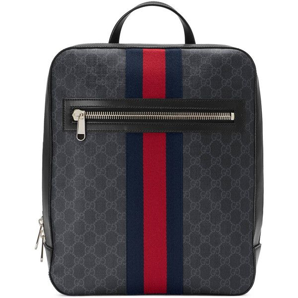 85df3cf6aecfc3 Gucci Gg Supreme Backpack featuring polyvore, men's fashion, men's bags, men's  backpacks, bags, backpacks, men, mens canvas backpack, mens backpack and ...