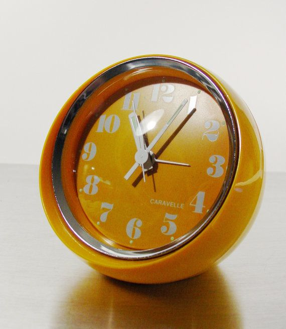 Space Age Clock Vintage Alarm Clock By Caravelle By ClubModerne