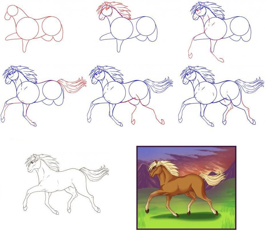 Картинки уроки рисования поэтапно