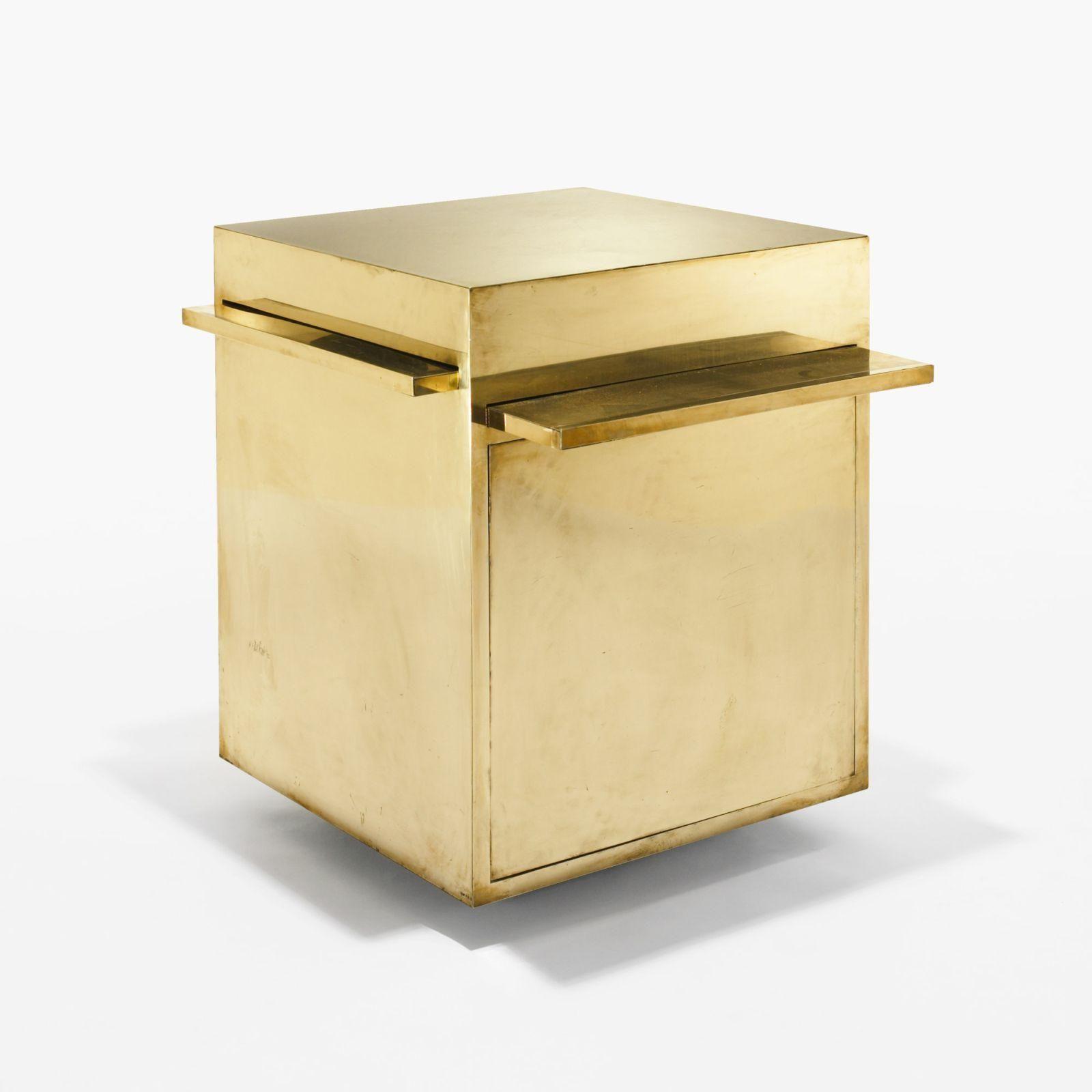 Gabriella Crespi Magic Cube Table Bar Laiton 1970