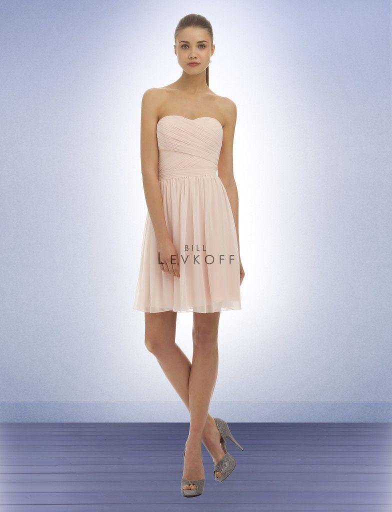 Cute bridesmaid dress bill levkoff at crème couture bridesmaid