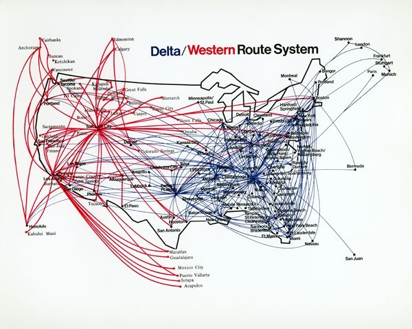 Years Post Delta Merger A Look Back At Western Airlines - Delta route maps