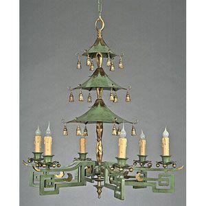 Chinoiserie green pagoda chandler light fixtures pinterest chandelier lighting on sale bellacor aloadofball Choice Image