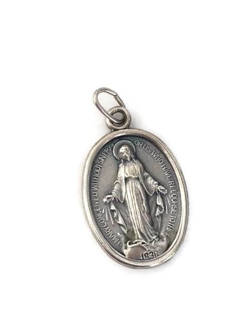 Miraculous Medal Virgin Mary Medal Catholic Sterling Silver 925 Charm  Blessed Mother Saint Catholic Spiritual Protection