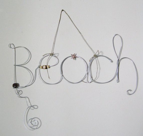 Beach Theme Hanging Photo Holder Wire Word Picture Frame With Shell