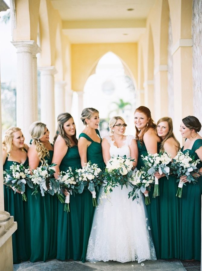 Eight Emerald Wedding Ideas Weddings Illustrated Emerald Green Bridesmaid Dresses Emerald Bridesmaid Dresses Green Bridesmaid Dresses