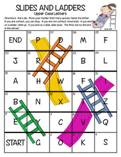 Slides and ladders letter naming game variation on chutes and slides and ladders letter naming game variation on chutes and laddersuld easily be re purposed from an old game board too spiritdancerdesigns Choice Image