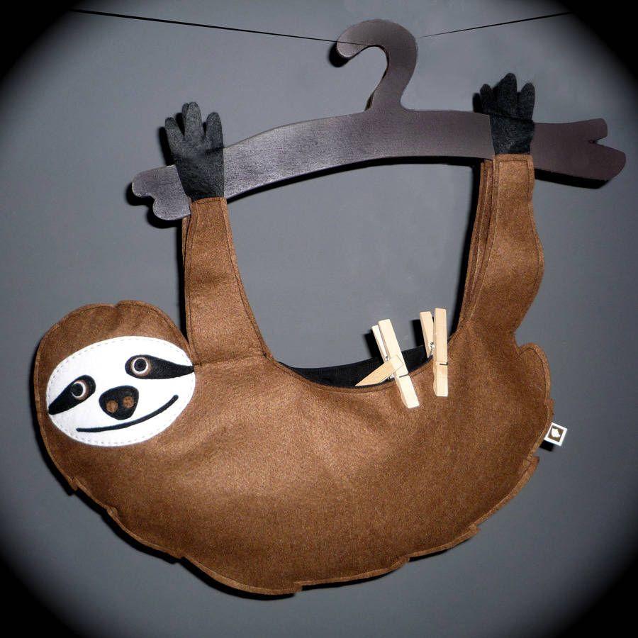 Sloth peg bag. I need this! | Wäscheklammern | Pinterest | Peg bag