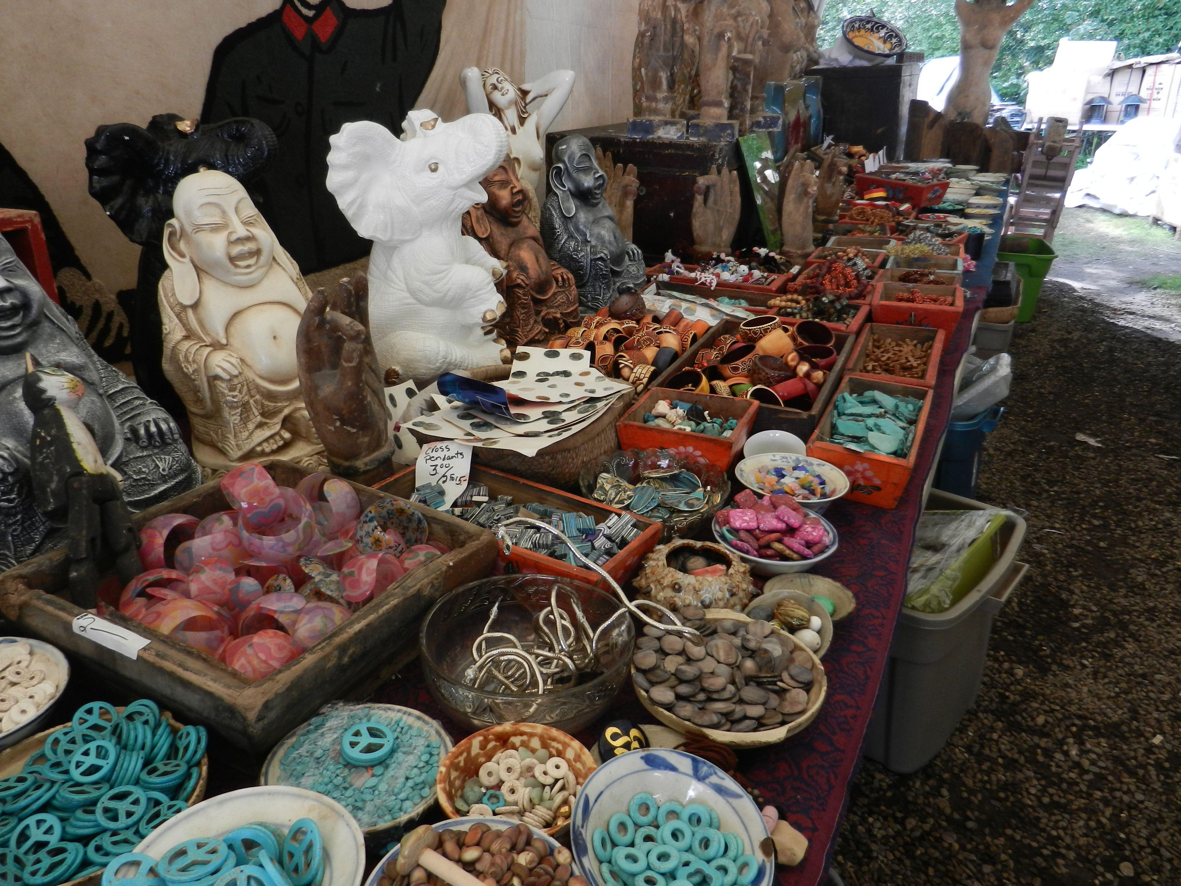 The art and bead tent at brimfield flea market for Brimfield flea market
