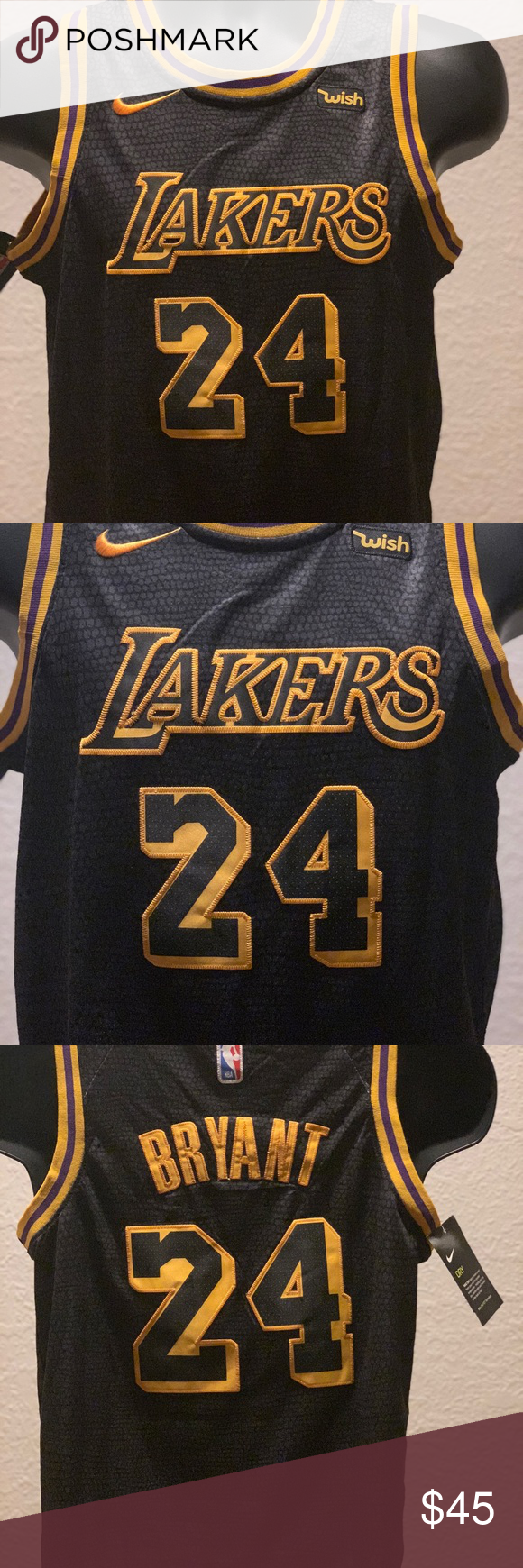 Kobe Bryant Youth Xl City Edition Jersey Nike Los Angeles Lakers 24 Kobe Bryant Black Youth Nba Swingman City Edition Jersey Nik Kobe Bryant Bryant Kobe