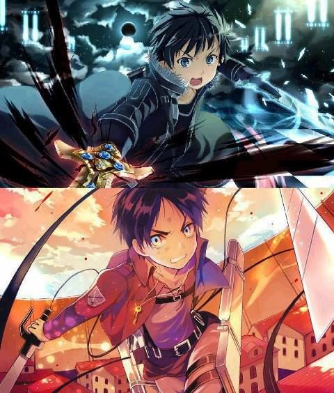 Attack on Titan and Sword Art Online. Do they look alike?