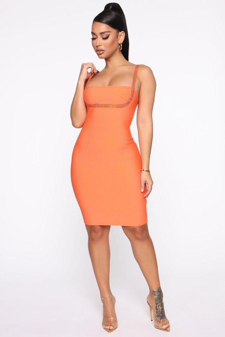 I M A Honey Bandage Mini Dress Orange Dresses Mini Dress Fashion [ 1140 x 760 Pixel ]