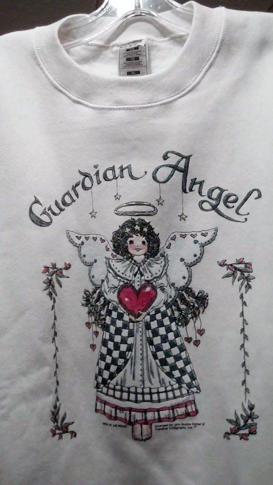 Women's Sweatshirt, XL, Guardian Angel Design, Great Gift!  soft Creme! #FruitoftheLoom #SweatshirtCrew