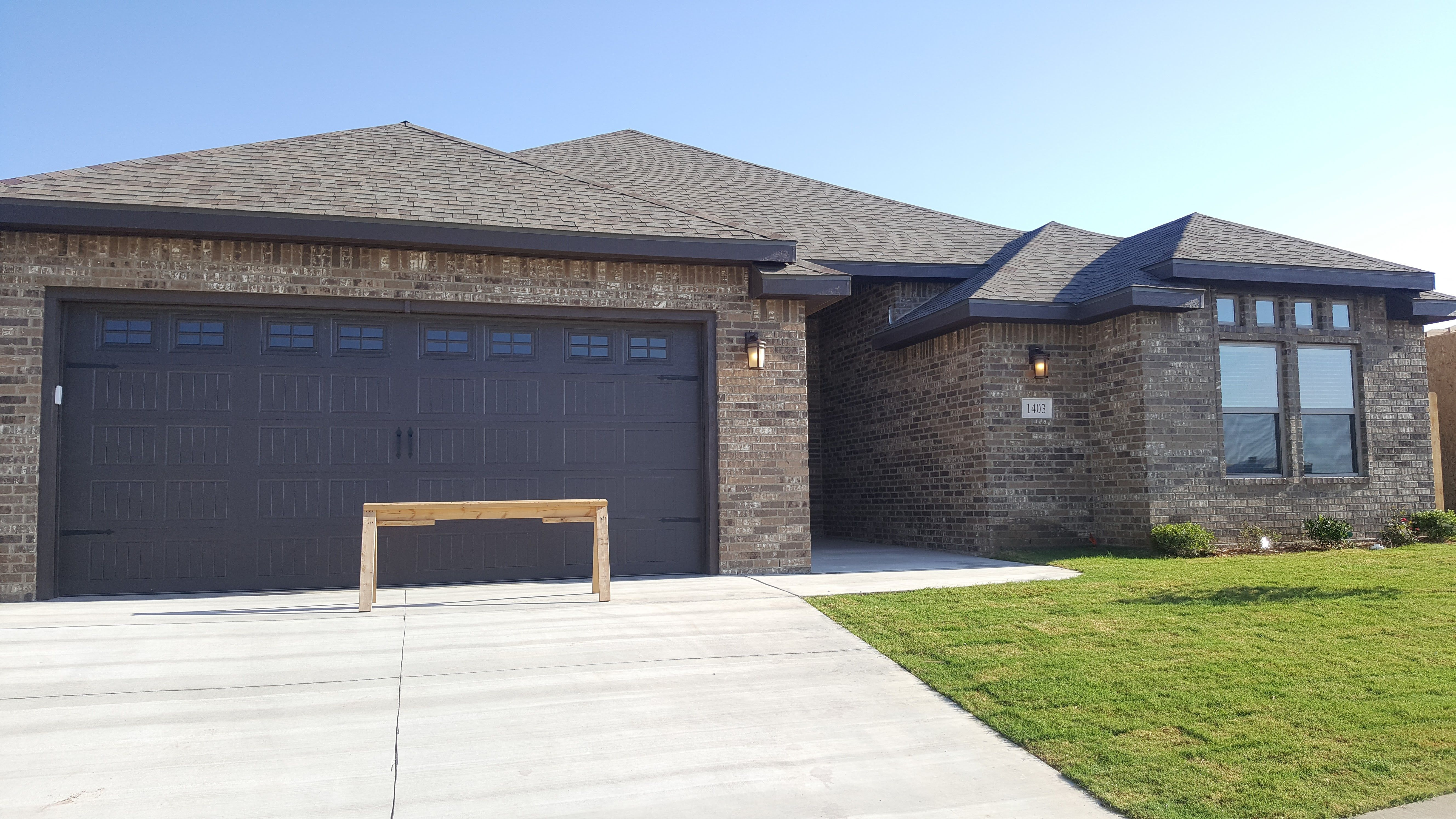Fabiana A By Permian Homes Color Scheme E4 French Chateau Brick With Chocolate Trim And Garage Door House Color Schemes Model Homes New Homes