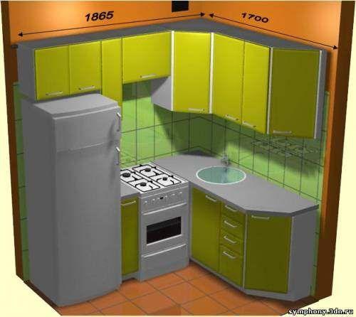 Дизайн маленькие угловые кухни