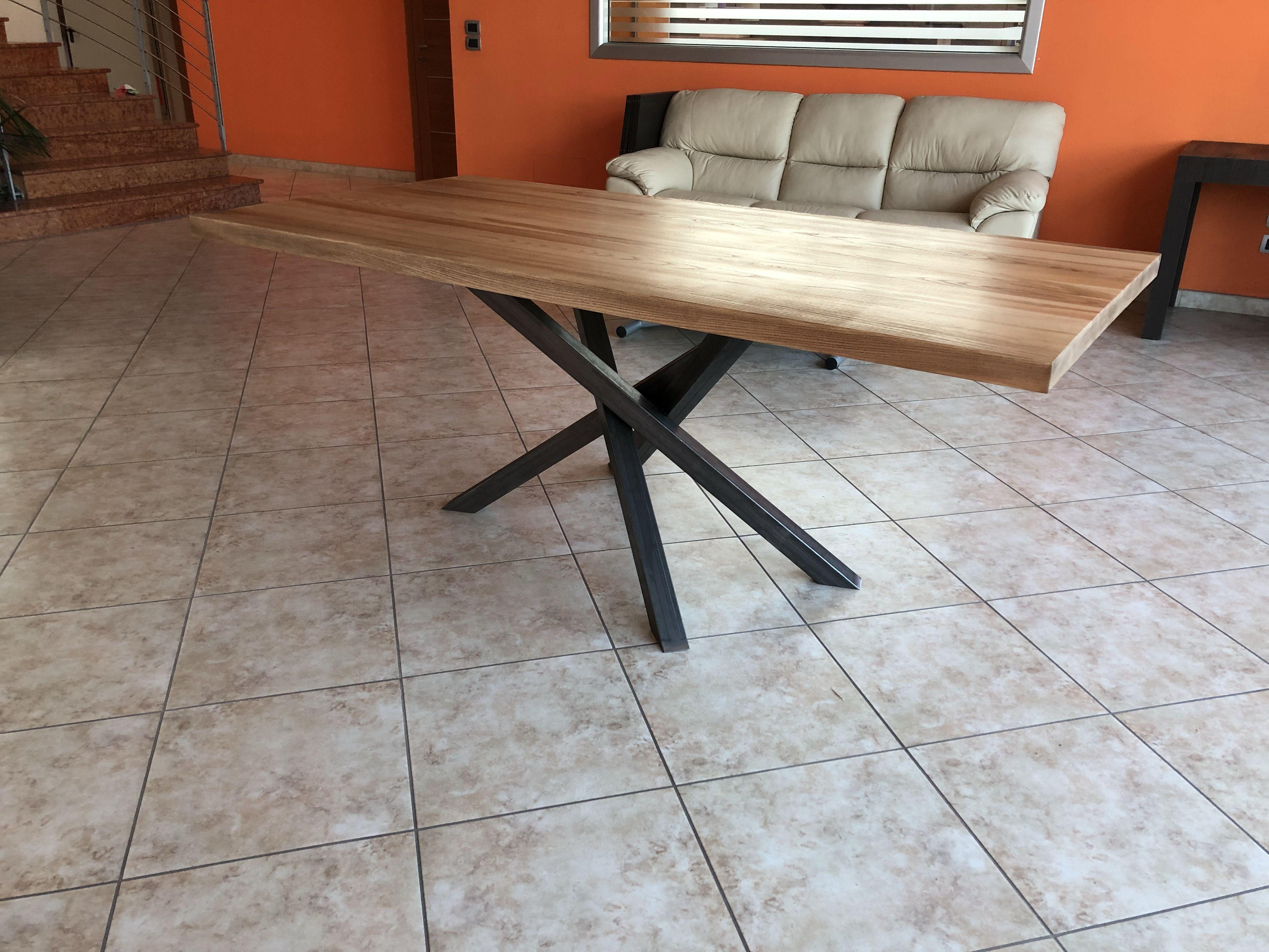 Tavolo da cucina Polinesia in legno massello | TAVOLI MODERNI ...