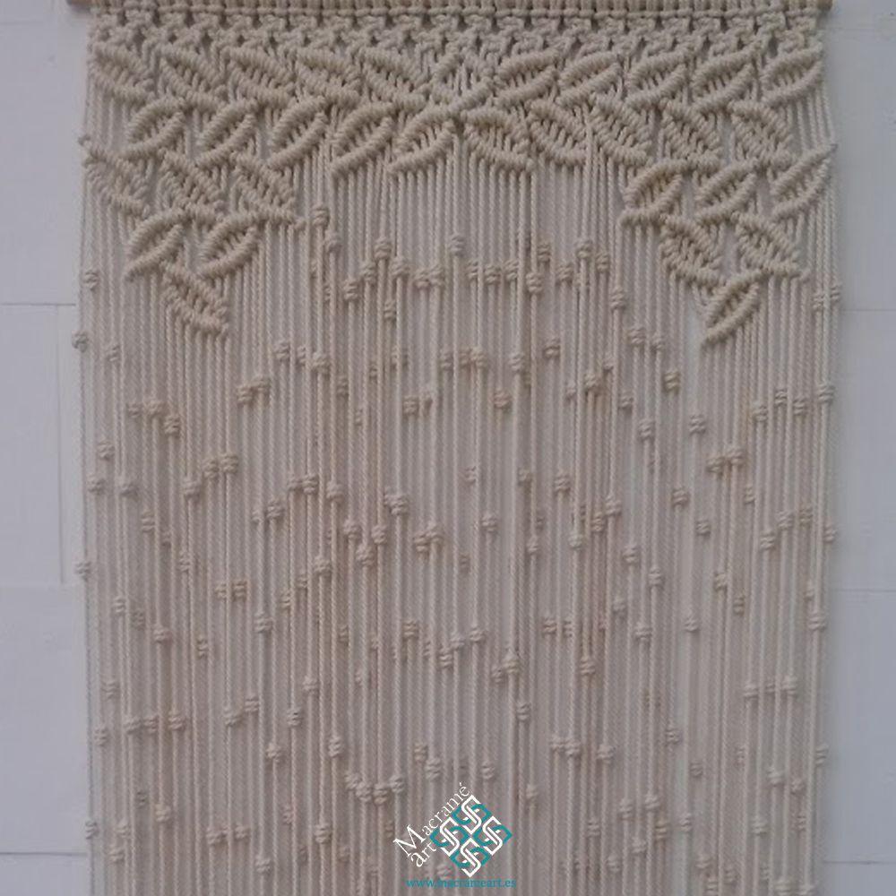 Cortina macram modelo hojas la hacemos tambi n en forma - Formas de cortinas ...